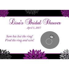 24 Bridal Shower Scratch off Cards - Hallie Design - Purples - CUSTOM colors