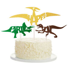 3 pz fai da te torta bandiera dinosaur cupcake topper bambini festa di compCRI
