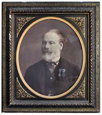 photo Portrait homme sous verre par C. Brion XIXème