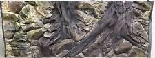 3D Root & Rock Background For Aquarium Fish Tank 117x45cm Can Fit 120x50cmn