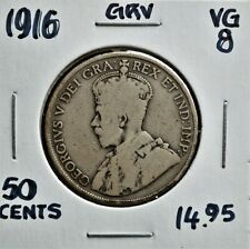 1916 Canada 50 Cents VG-8