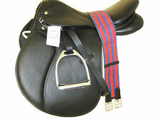 """MARK"" ENGLISH JUMP / ALL PURPOSE SADDLE PACKAGE BLACK  (ELJ_2001) 17"""