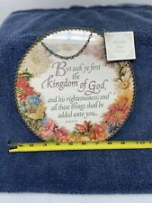 "Victorian Chimney Flue Cover 7.5"" Vintage Replica Gallery Graphics Bible verse"