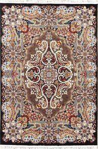 Brown Geometric Traditional Style Turkish Oriental Area Rug Medallion Carpet 4x7