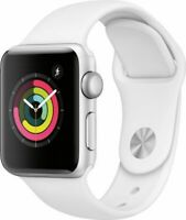 NEW Apple 38mm Series 3 GPS Aluminum Case Watch - White (MTEY2LL/A)