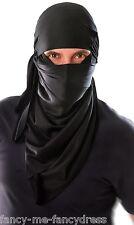 Da Uomo Nero Giapponese Ninja Cappuccio Fancy Dress Party Vestito Costume Accessorio