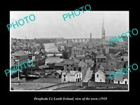 OLD LARGE HISTORIC PHOTO OF DROGHEDA LOUTH IRELAND, VIEW OF THE TOWN c1910 2