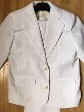 Traje Estilo Vaquero Para niñios Medida12 Blanco Kids Suits Western Size12 WHTE
