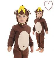 Kids Costume Childs Toddler Animal Book Day Girls Week Boys Monkey Fancy Dress