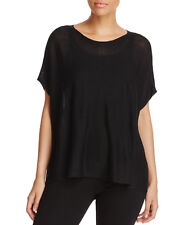 $178 Eileen Fisher Black  Boat-Neck Boxy Top L/XL