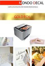GOLD FOIL TRANSFER PER LAMINAZIONE SU STAMPA LASER, COLOR ORO, 10 FOGLI A4