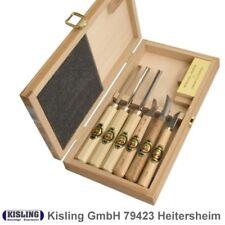 Kerbschnitzgarnitur  Kirschen 7- teilig # 3437 im Holzkasten Kerbschnitzwerkzeug