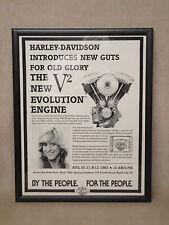 Original 1983 Harley Davidson Black Hills Sturgis Poster EVO Engine Regina Smith