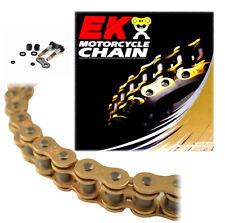 EK 520SRX2 Gold Sport Race QX-Ring Motorcycle Chain (Screw Master) - 120 Links