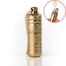 Pocket Mini Kerosene Lighter Outdoor Survival Tools Oil Lighter With Key Chain