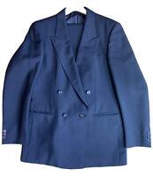 BURBERRY LONDON Anzug 2 Teilig Gr. 98 - 50 reine Schurwolle schwarz Neuwertig