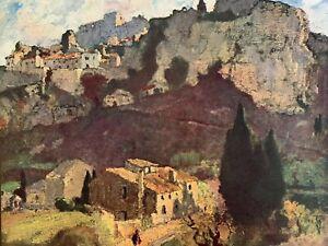 ILLUSTRATION LOUIS MARIE DESIRE LUCAS - LES VILLAGE DES BAUX DE PROVENCE - 1929