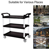 3 Tiers Storage Rolling Cart Utility Shelf Trolley Kitchen Organizer Rack  M