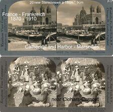 20 Stereoviews von Frankreich, France ca. ab 1860, Marseilles, Metz, Cannes