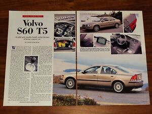 VOLVO S60 T5 MAGAZINE ARTICLE SEDAN DREAMS OF BEING A SPORTS CAR SWEDEN