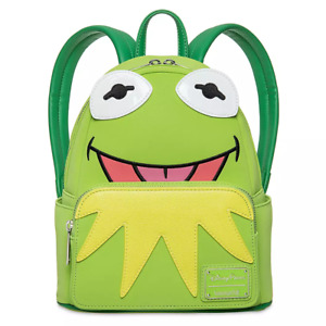 Kermit The Frog The Muppets Mini Backpack by Loungefly & Dino Keychain SEALED