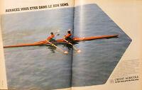 PUBLICITÉ DE PRESSE 1981 CRÉDIT AGRICOLE VOUS ÊTES DANS LE BON SENS - AVIRON