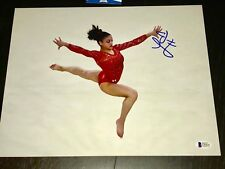 Laurie Hernandez Hand Signed 11x14 Photo Gymnastics USA Olympics Beckett BAS