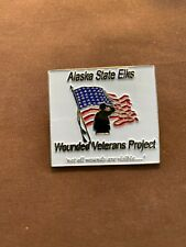 ELKS pin- Alaska State Elks Wounded Veterans Project Pin FREE SHIPPING