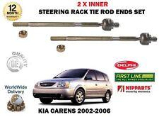Para Kia Carens 1.6 1.8 2.0 CRDi 2002 - > NUEVO 2 X Interior volante Tie Rack Rod Ends