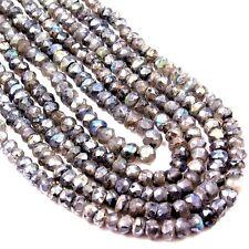 Labradorit facettiert ca.125 Perlen Ø ca.5 mm Perlenstrang ca. 39 cm zum Basteln