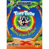 Tiny Toon Adventures: Buster's Hidden Treasure - Sega Genesis Game *CLEAN VG