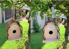 Bird House Hanging Bird Hotel Wooden Nesting Box Love Birds Log Birdhouse