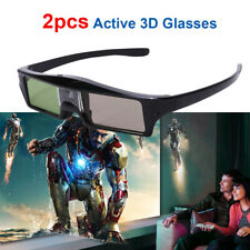 2x Active 3D Glasses Shutter for DLP-Link DLP Projector Optoma BenQ Moive Cinema