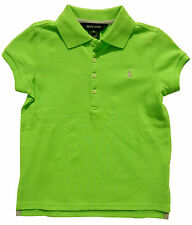 Ralph Lauren Girls Polo T Shirt Embroidered Pony Designer Green 5 Years