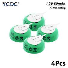 4Pcs 1.2V 80mAh Knopfbatterie Wiederaufladbar Batterien Akkupack Mit Zwei Tabs