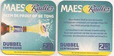 """Maes Radler - Bierdeckel aus Belgien - """"Dubbel verfrissend"""""""