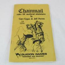 RARE CHAINMAIL RULES FOR MEDIEVAL MINIATURES GUIDON GAMES 2ND EDITION 1ST PRINT
