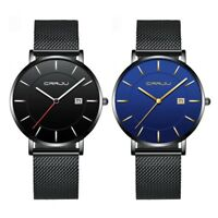 Modern Men Ultra-thin Casual Stainless Steel Watch Mesh Band Quartz Wristwatch