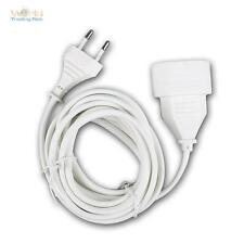 Euro-extension white 2,9m, Extension cable with Euro plug & Euro coupling