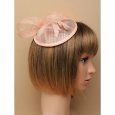 Nude pink fascinator with comb and elastic, Ascot Weddings, Races,Prom
