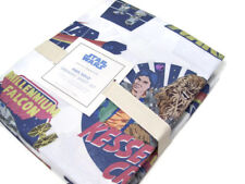 Pottery Barn Kids Star Wars Han Solo Millennium Falcon Cotton Twin Sheet Set New