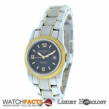 "Authentic Ladie's Girard Perregaux ""F"" Steel 18K Gold 8039 Date Automatic Watch"