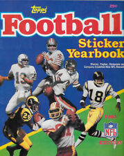 NFL 1985 TOPPS FOOTBALL STICKER SET 90 % COMPLETE IN ALBUM MISSING 37 STICKERS