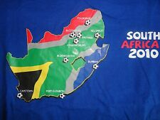 South Africa 2010 Soccer World Blue T Shirt S Free US Shipping