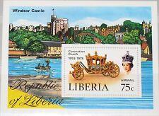 LIBERIA 1978 Block 91 S/S C221 25th Ann Coronation Queen Elizabeht Kutsche MNH