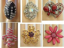 Fashion Jewelry lots 12 PCS CHIC COCKTAIL COSTUME JEWELRY RINGS wholesale q22