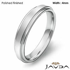 Ring 4mm Platinum 950 6.1gm Sz 4-4.75 Wedding Band Women Comfort Fit Plain Flat
