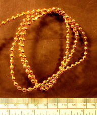 Ball chain - gold finish - 6 links per inch (approx.) 5 mm width per metre