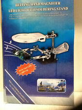Brand New Helping Hand Magnifier Led Light with Soldering Stand
