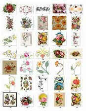 30 Personalized Return Address labels Victorian Flowers Buy 3 get 1 free (vf1)